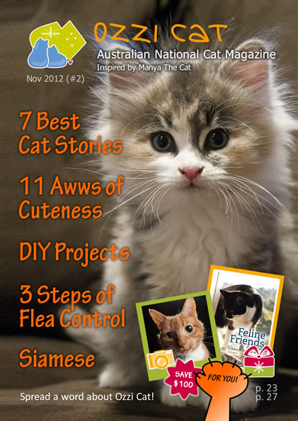 Issue #2 (Summer 2012) - Ozzi Cat Magazine for Cat Lovers and Cat Parents