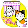(#01) Happy Birthday - Custom Cat Cake - Ozzi Kitty