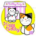 (#01) Happy Birthday - Custom Cat Cake - Ozzi Kitty