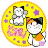 (#02) Happy Birthday - Custom Cat Cake - Ozzi Kitty