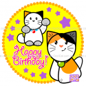 (#02) Happy Birthday - Custom Cat Cake - Ozzi Kitty