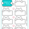 Milo Meow - Cat Stickers #001 (1 sheet. 12 stickers)