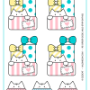 Milo Meow - Cat Stickers #002 (1 sheet. 7 stickers)