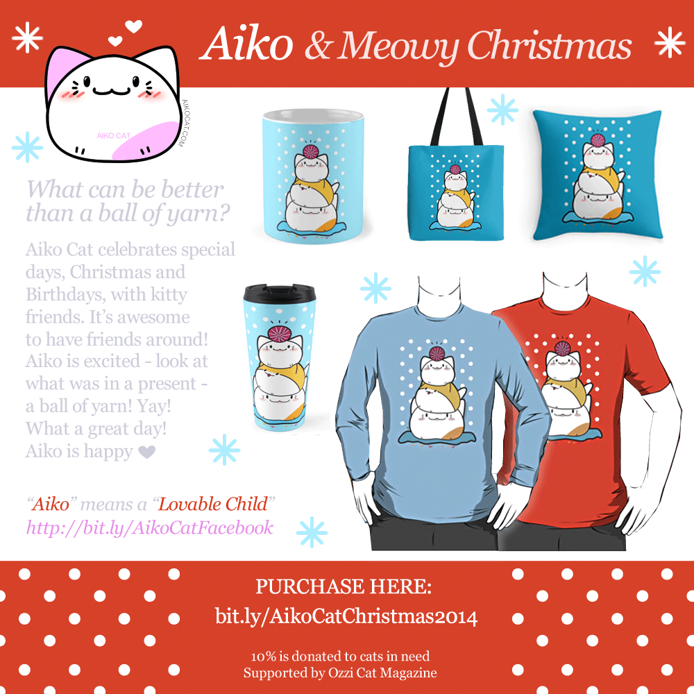 Kawaii Aiko Cat - Christmas and Birthday