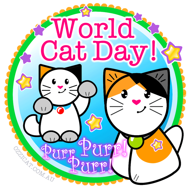 International World Cat Day! Celebrate Cat Companionship!