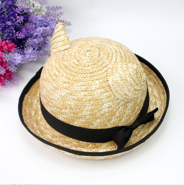 Adorable Cat Straw Hat With Ears. Cat Lady's Must Have For Summer