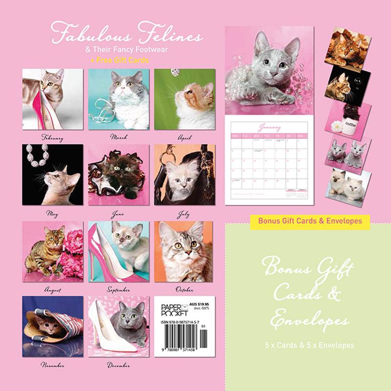 Cat calendar 2015 - Fabulous Felines Calendar - back