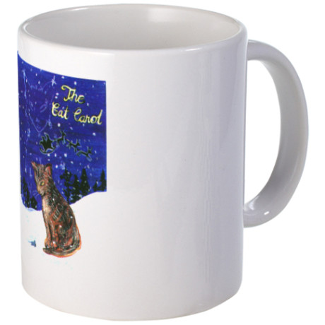 Gift for Cat Lover - Christmas Song - The Cat Carol - mug with cat