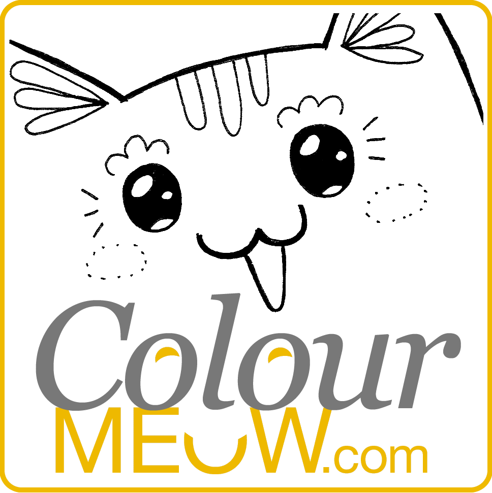 Cat Colouring Pages And Drawings For Adults Kids Anti Stress Therapy
