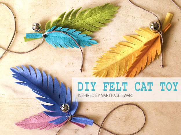 DIY Felt Cat Toy Made in 1 Hour: Colourful Leaves. Cat Toys for Your and Rescue Cats