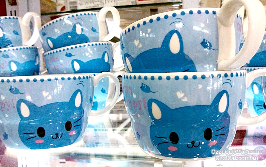 Daiso - cat goods - cute kawaii - cat cup - Australian National Cat Magazine Ozzi Cat