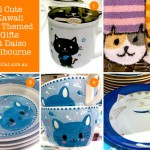 Daiso - cat gifts - cute kawaii - cat socks, cups, plates