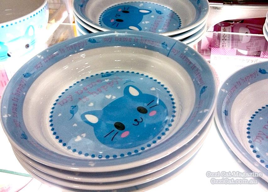 Daiso - cat goods - cute kawaii - cat plate - Australian National Cat Magazine Ozzi Cat