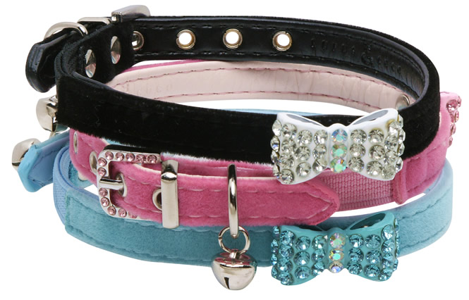 Diamante Bow Collar - Rufus and Coco