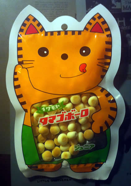 Junia Boro Cookies in a cat shaped bag