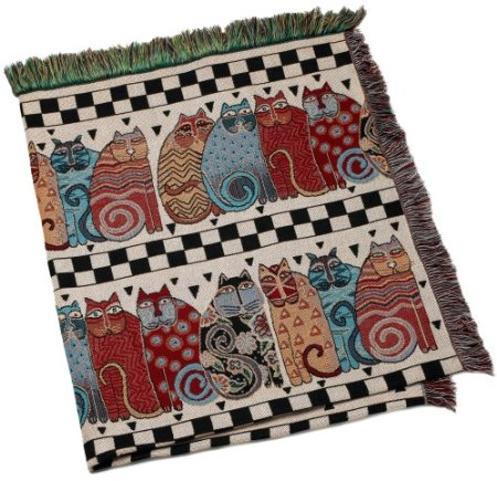 Laurel Burch Cat Throw