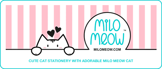 Milo Meow - Cute Cat Stationery & Stickers