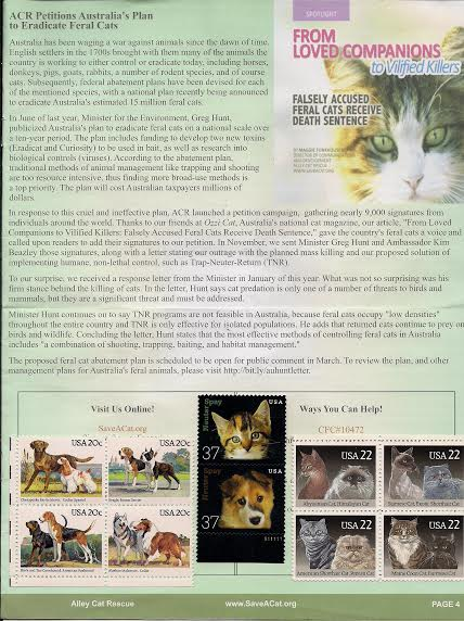 Ozzi Cat Magazine mentioned in Alley Cat Rescue magazine