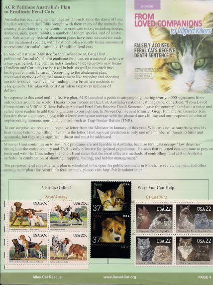 Ozzi Cat Magazine mentioned in Alley Cat Rescue magazine