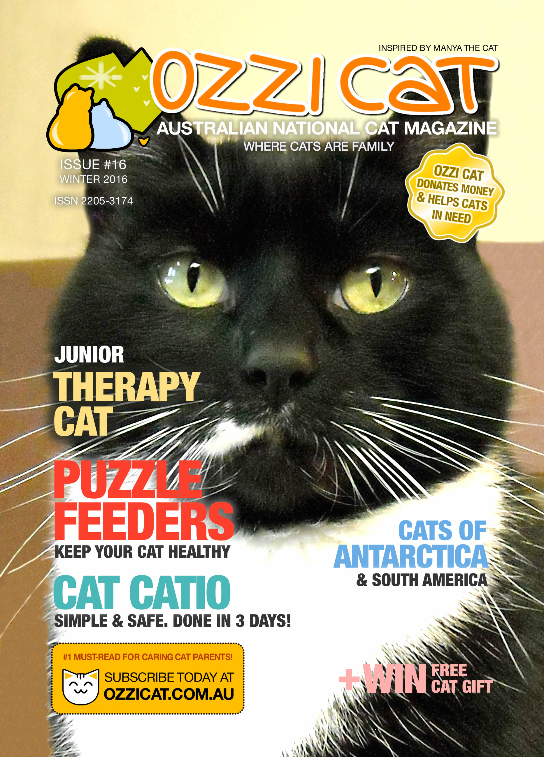 Ozzi Cat - Australian National Cat Magazine - Issue 16 - WINTER 2016