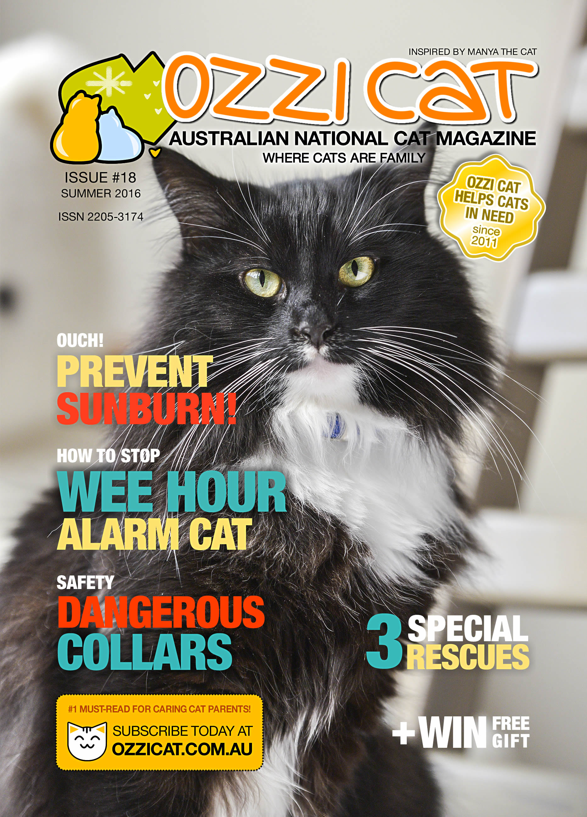 Ozzi Cat Magazine - Issue 18 - SUMMER 2016 | Australian National Cat Magazine