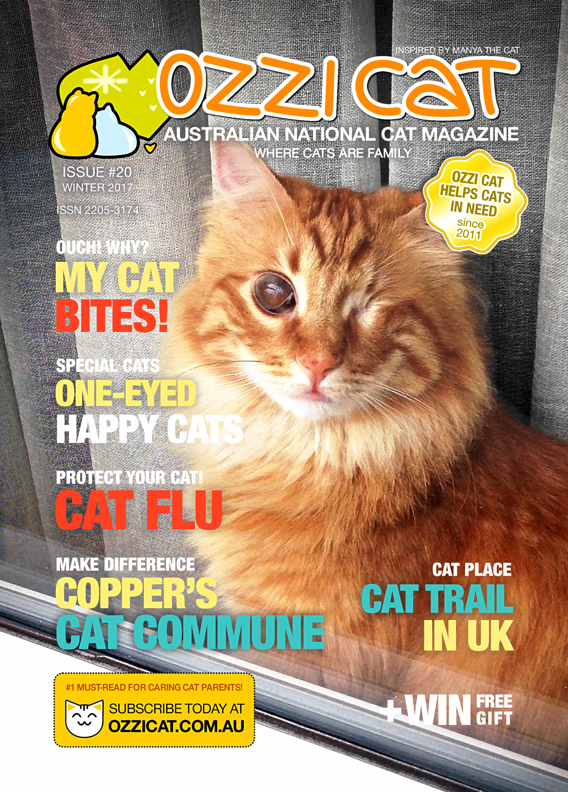 Ozzi Cat - Australian National Cat Magazine - Issue 20 - WINTER 2017