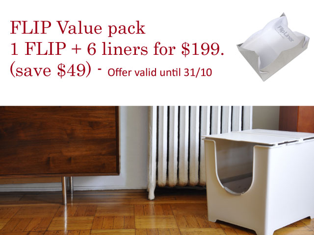 Paws & Co - Flip Litter Box with Liners - Discount Offer