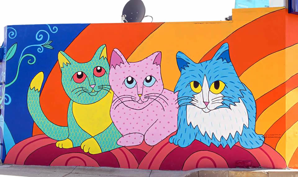 Perth Cat Hospital - Cats - Mural - Rahalie - The Velveteen Rabbit Art - WA Australia