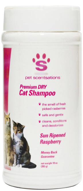 Pet Scentsations Dry Cat Shampoo - Raspberry