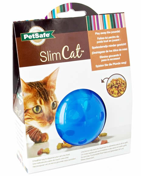 SlimCat Interactive Feeder Cat Toy - Cat slow puzzle feeder - food dispenser - treat toy