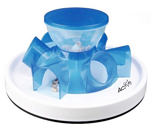 TRIXIE Tunnel Self Feeder - Cat slow puzzle feeder - food dispenser - treat toy