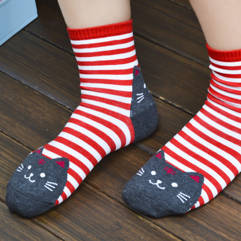 Cute cozy cat-themed cat socks for cat ladies