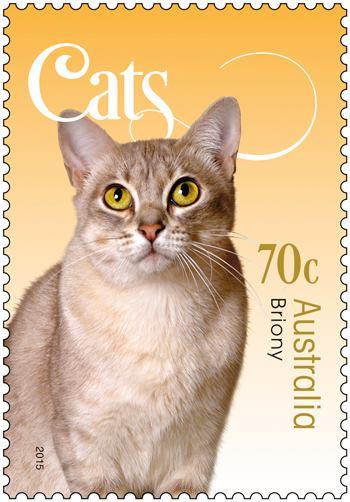 Cat stamp collection - Australia Post