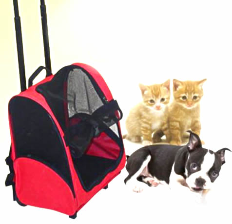 cat stroller - CAT TROLLEY CARRIER TRAVEL BACKPACK CAGE