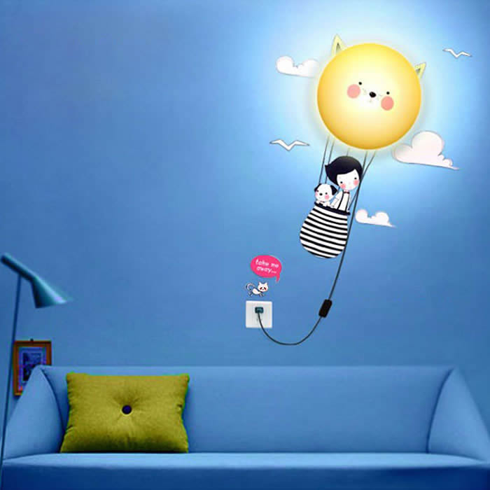 Cat wall home decor - DIY cartoon lamp - 3D - Kids bedroom - Cat Lover's Pick