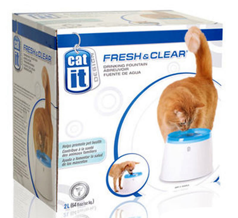 Catit Fresh & Clear Drinking Fountain Station for Cats