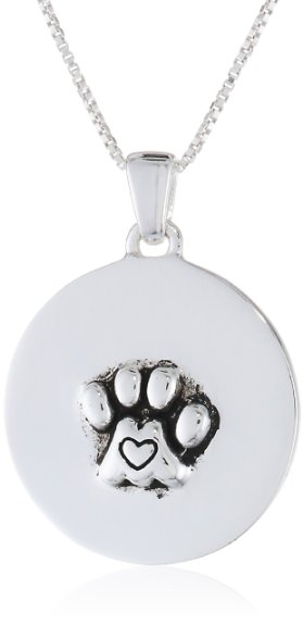 "Reversible Pendant Necklace with Cat ""In A Purrfect World Every Cat Would Have A Home and Every Home Would Have A Cat"""