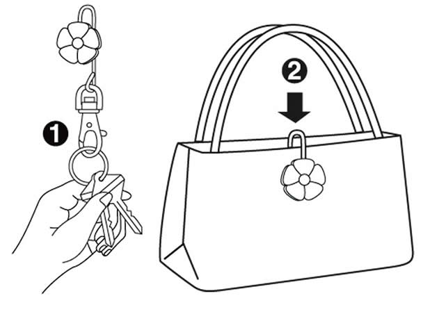 Handbag key finders - how to