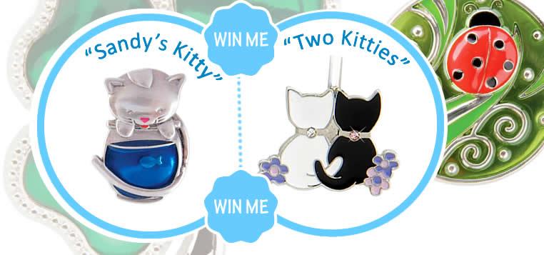 Handbag key finders -Sandy's Kitty - Two Kitties - giveaway