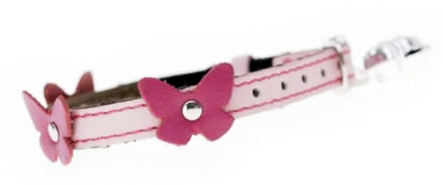 Paws and Co - Cat Collar - Papillon Pink