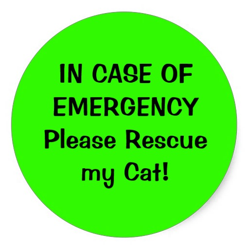 pet alert sticker - fire emergency - how to save a cat in fire