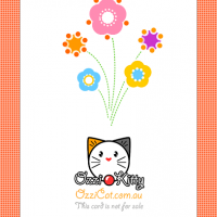 (Card Back) Ozzi Cat Magazine DIY printable greeting card for Mothers Day celebration
