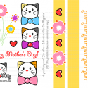 Mothers Day: DIY Printable Scrapbooking Elements for Greeting Card